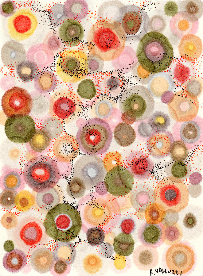 Softly Bubbling Painting  - Softly Bubbling Fine Art Print
