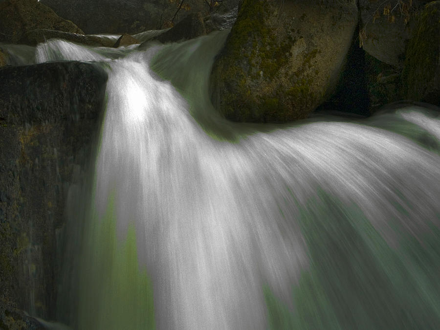 Cascades Photograph - Softwater Of Cascade Creek by Bill Gallagher