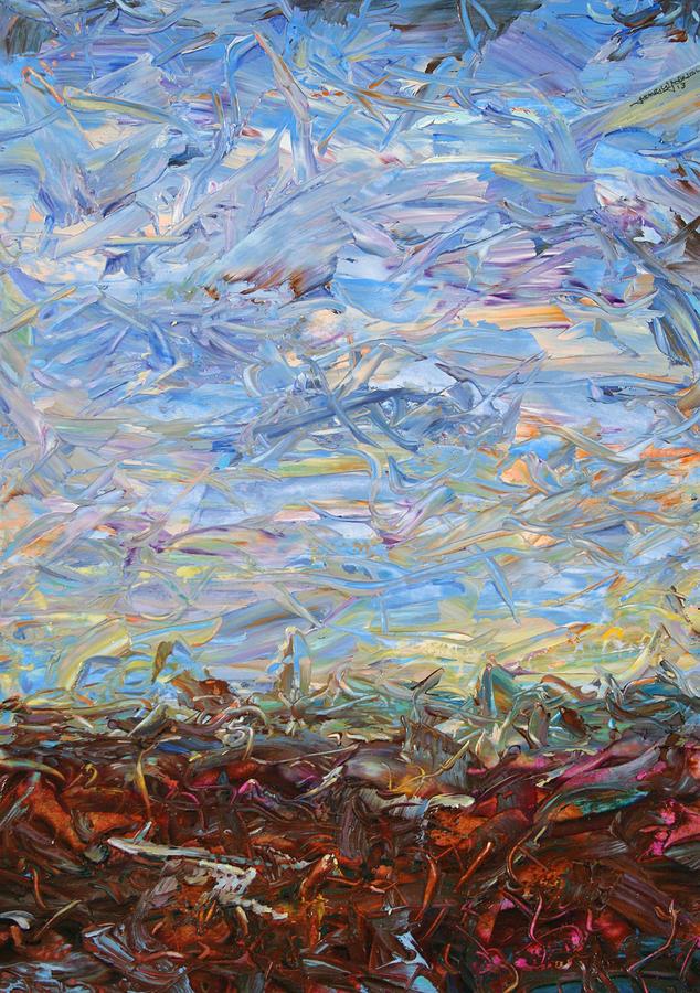 Landscape Painting - Soil Turmoil by James W Johnson