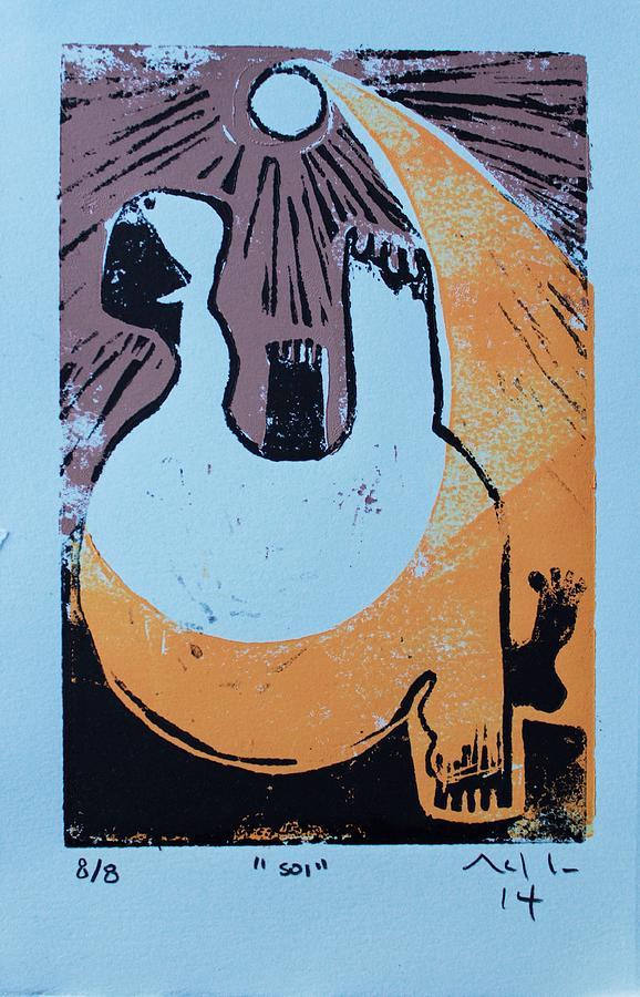 Linocut Relief - SOL by Mark M  Mellon