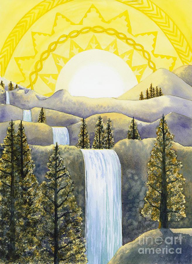 Power Painting - Solar Plexus Chakra by Catherine G McElroy