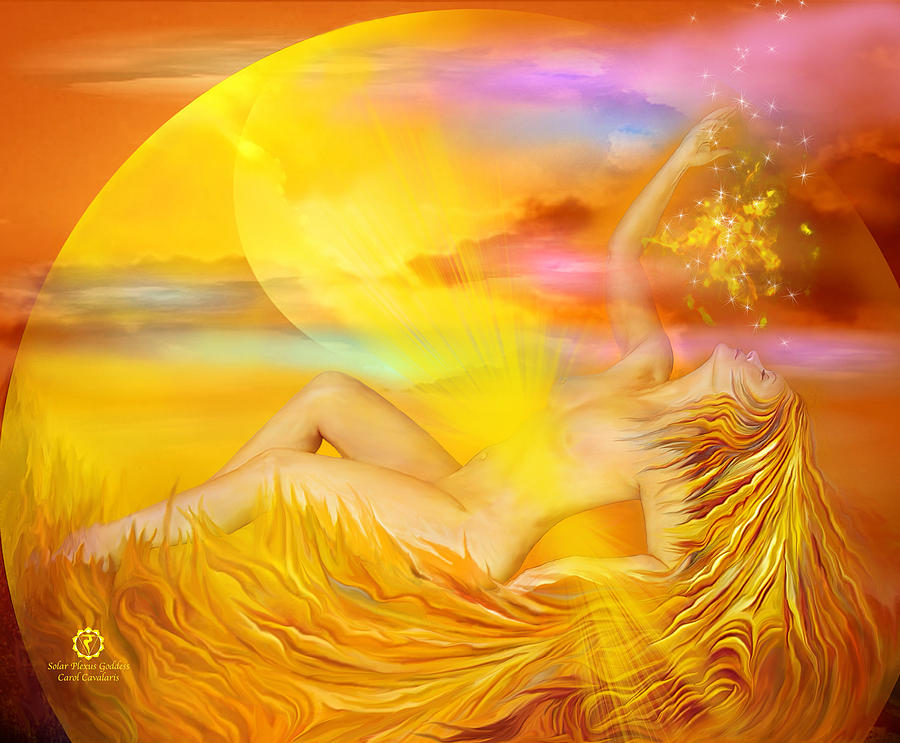 Solar Plexus Goddess Mixed Media  - Solar Plexus Goddess Fine Art Print