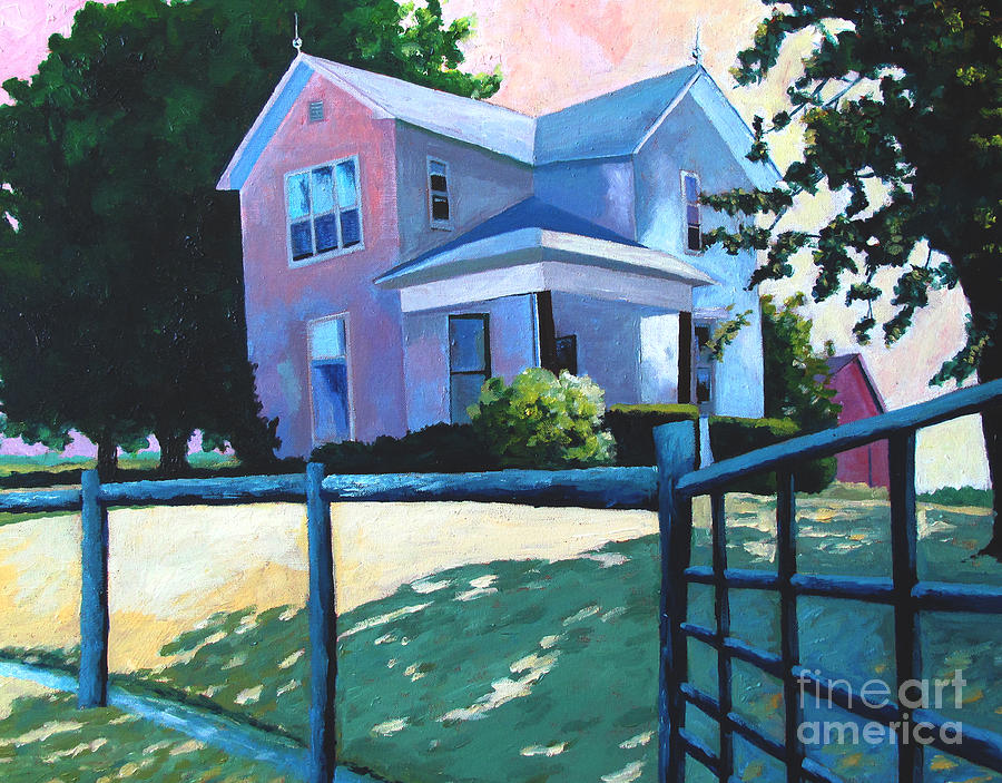 Sold Childhood Home Comissioned Work Painting