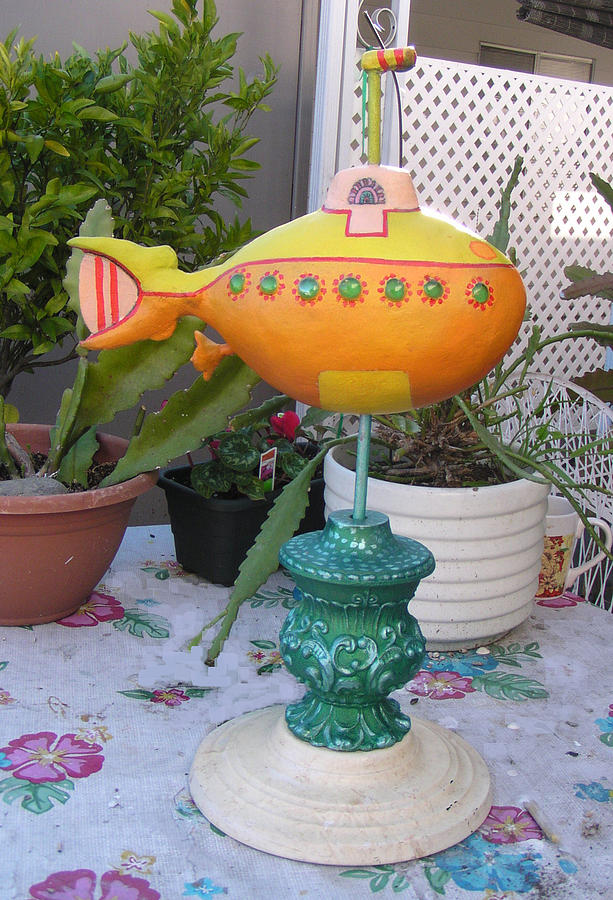 sold Yellow Submarine Sculpture