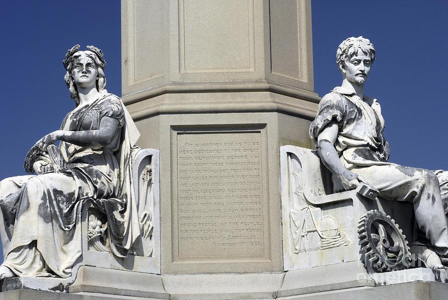 Soldiers Monument Detail Photograph