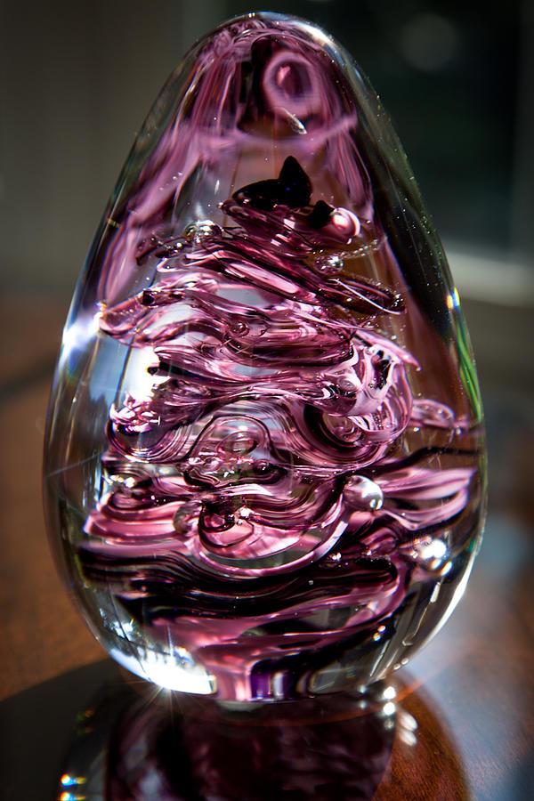 Glass Glass Art - Solid Glass Sculpture E3 by David Patterson
