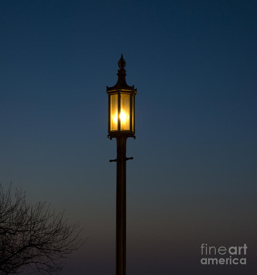 Solitary Gas Light Photograph