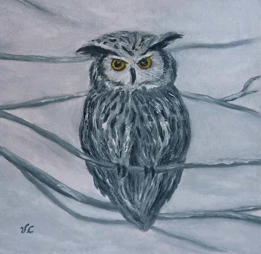 Solstice Owl Painting