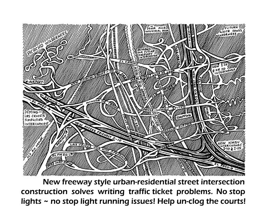 Solving Red Light Running Issues Drawing