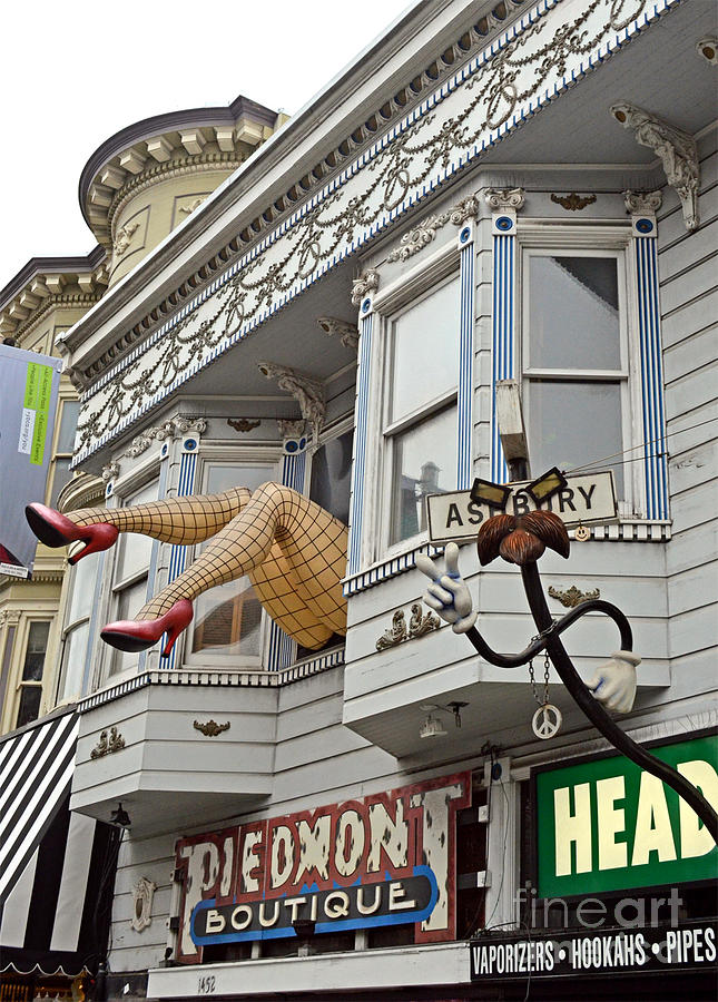 Two Giant Fishnetted Legs Photograph - Something To Find Only The In The Haight Ashbury by Jim Fitzpatrick