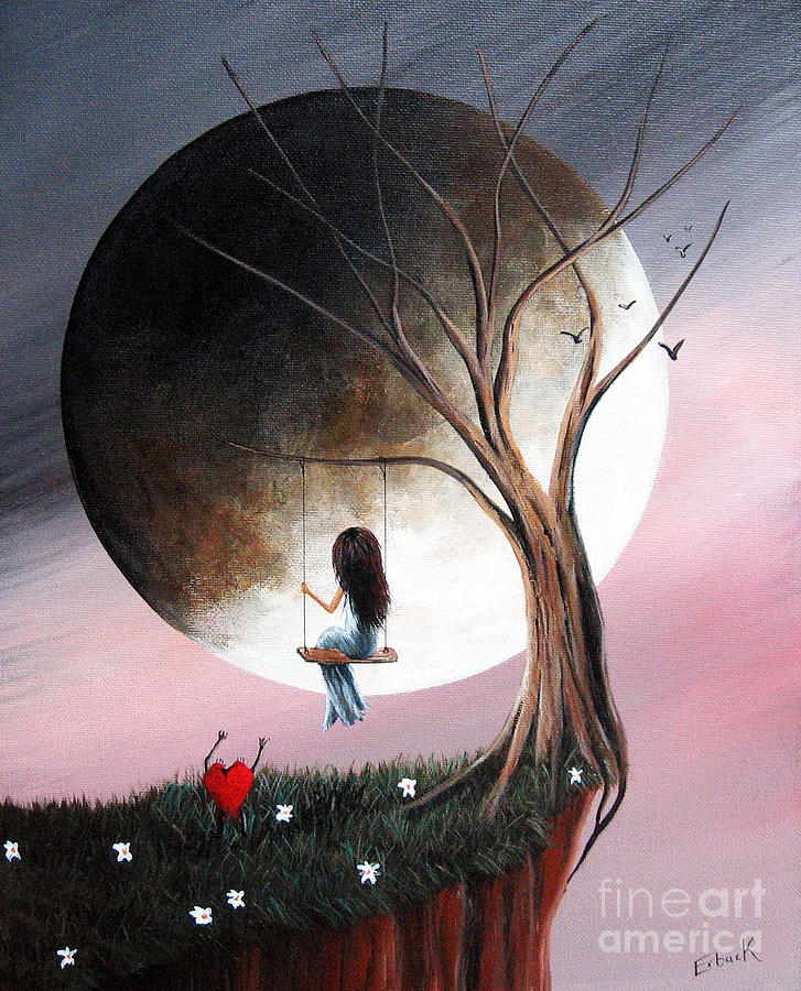 Sometimes She Just Wants To Be Alone By Shawna Erback Painting