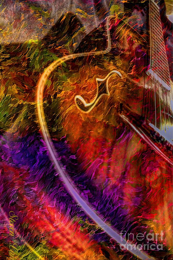 Song And Dance Digital Guitar Art By Steven Langston Photograph  - Song And Dance Digital Guitar Art By Steven Langston Fine Art Print