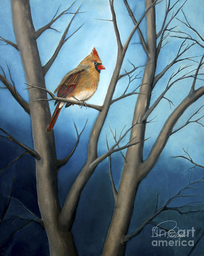 Song Birds - Northern Female Cardinal Painting