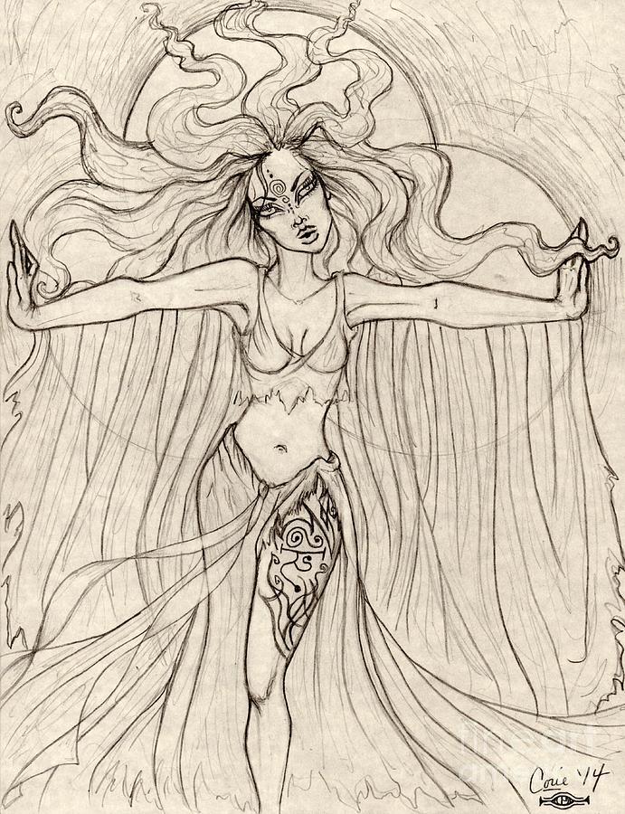 Banshee Drawing - Song Of The Banshee by Coriander  Shea