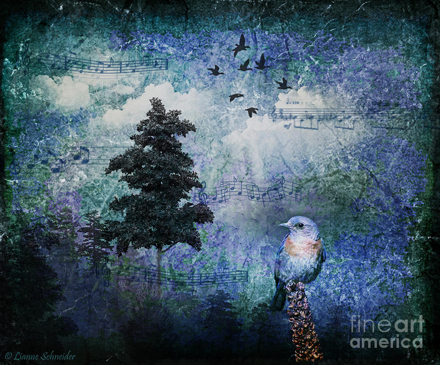 Digital Art - Songbird by Lianne Schneider