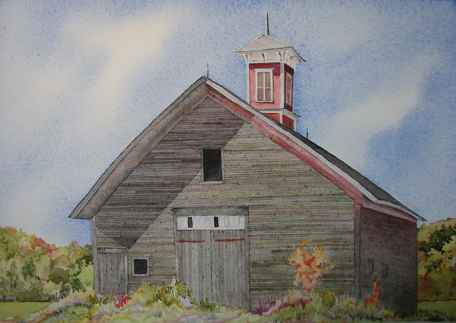 Farm Building Painting - Soon To Be Forgotten by Mary Ellen  Mueller Legault