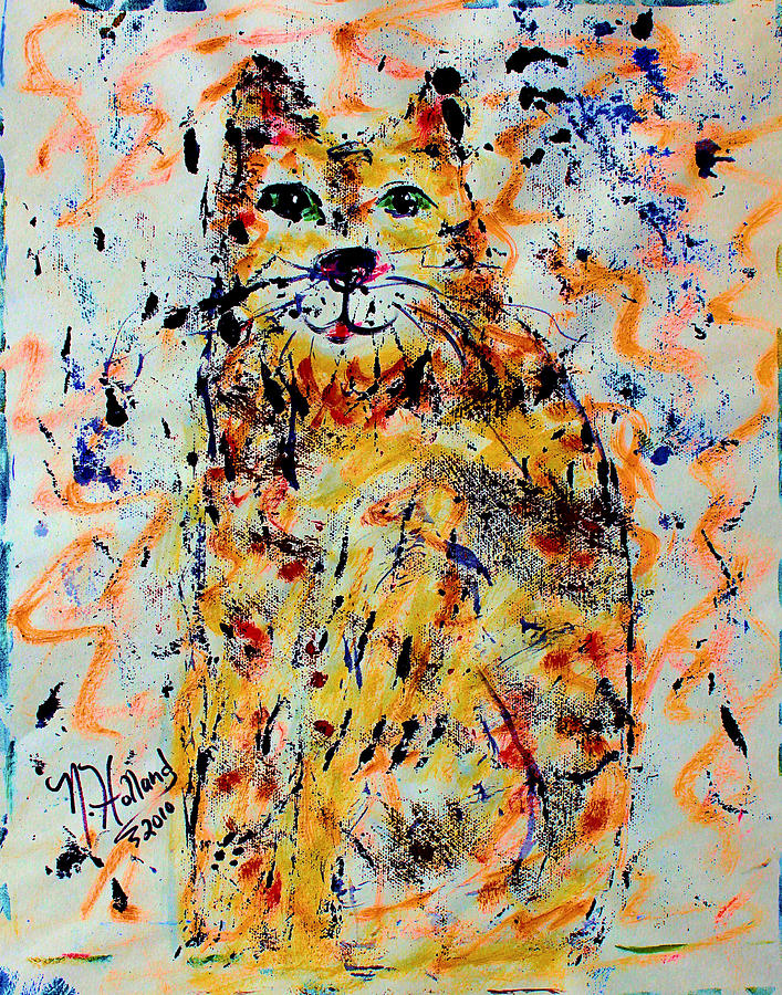 Sophisticated Cat 3 Painting  - Sophisticated Cat 3 Fine Art Print