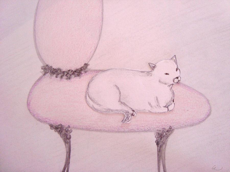 Sophisticated Cat Drawing
