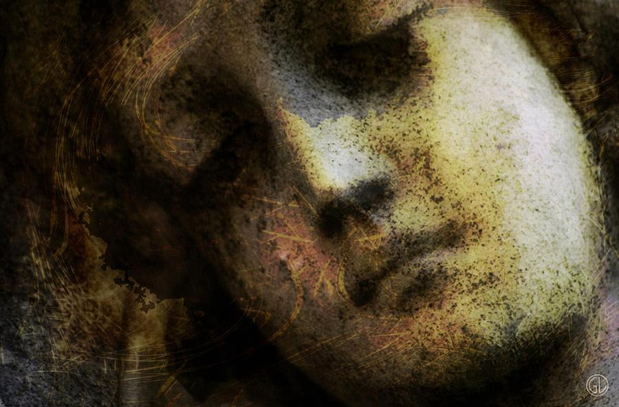 Sorrow Captured In Stone Forever Digital Art  - Sorrow Captured In Stone Forever Fine Art Print