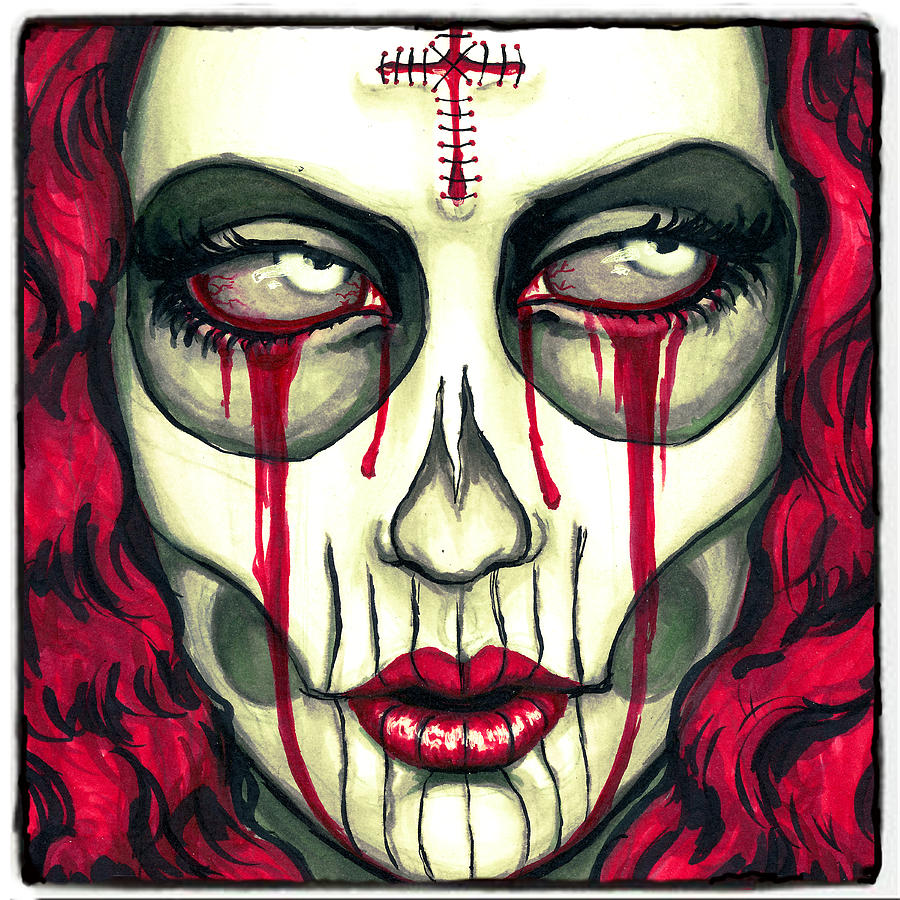 Day Of The Dead Photograph - Sorrow by Shayne  Bohner
