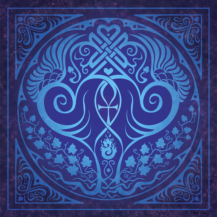 Soul Mates - Blue Digital Art