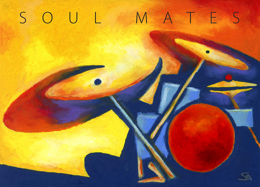 Music Painting - Soul Mates Poster by Stephen Anderson