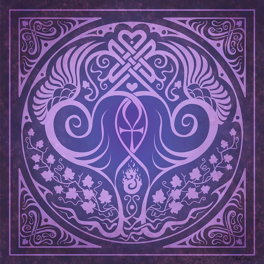 Soul Mates Digital Art - Soul Mates - Purple by Cristina McAllister