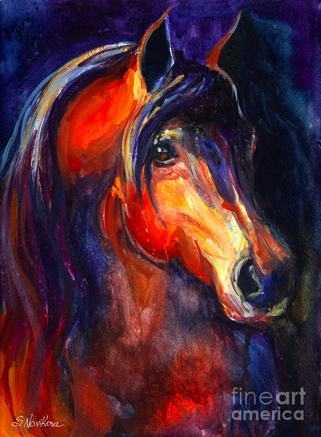 Soulful Horse Painting Painting