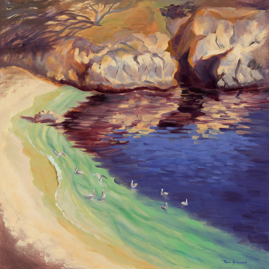 Soulful Sanctuary Point Lobos Painting  - Soulful Sanctuary Point Lobos Fine Art Print