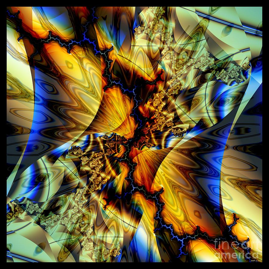 Sound Of Blue Lightning  Digital Art