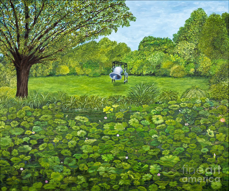 Pond Painting - Sound Of Nature By Kevin Davis by Sheldon Kralstein