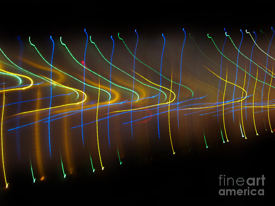 Soundcloud. Dancing Lights Series Photograph  - Soundcloud. Dancing Lights Series Fine Art Print