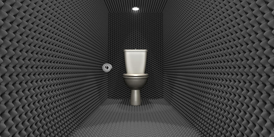 Soundproof Toilet Cubicle Digital Art