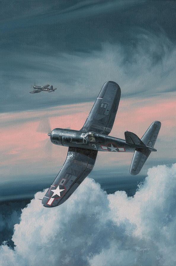 F4u Corsair Painting - South Pacific Hot Rods by Wade Meyers