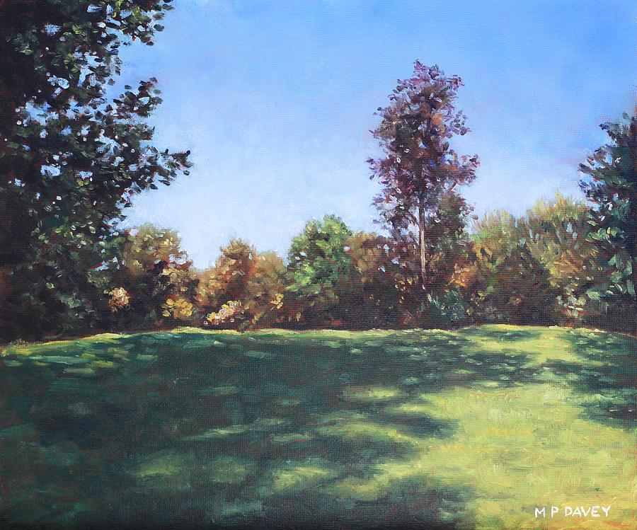 Southampton Palmerston Park Autumn Sun Painting