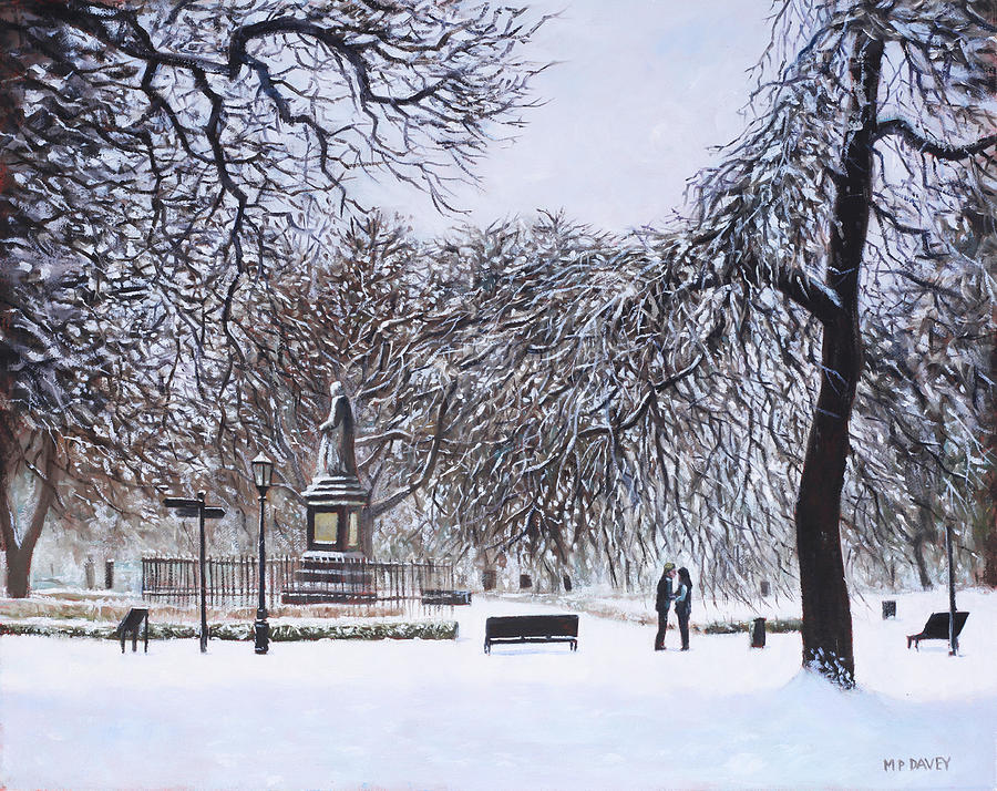 Southampton Watts Park In The Snow Painting  - Southampton Watts Park In The Snow Fine Art Print