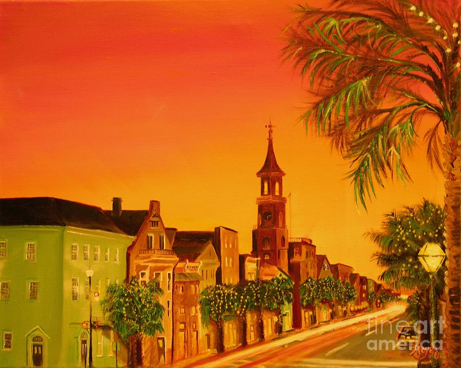 City Painting - Southern Eve by Barbara Hayes