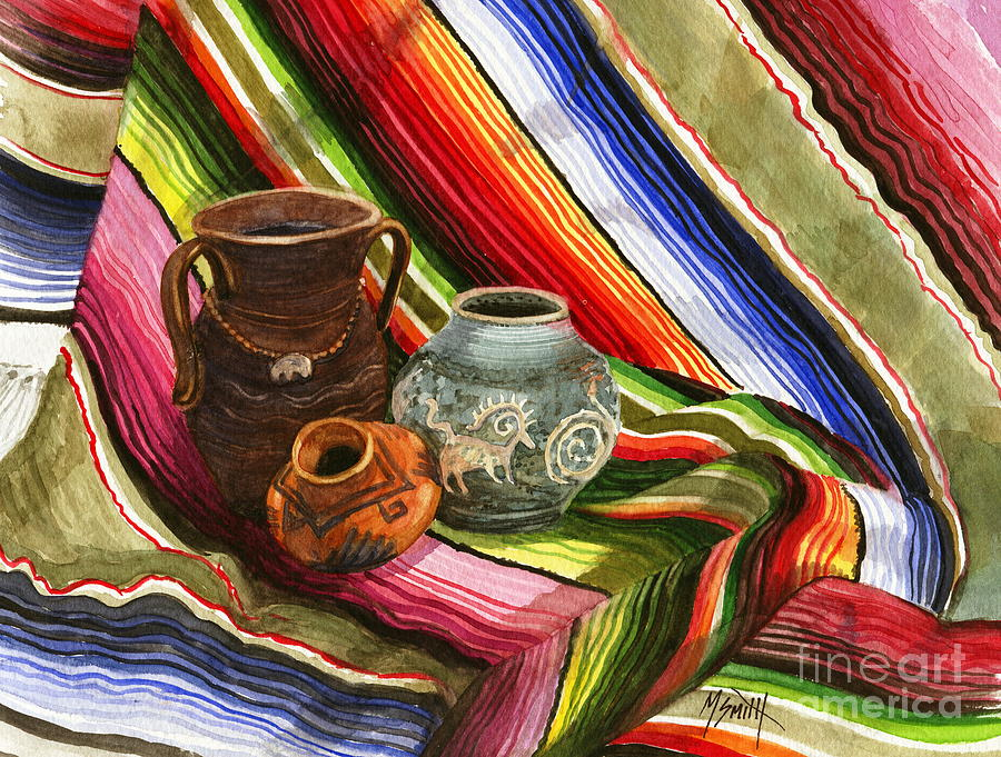 Southwest Pottery Painting - Southwest Still Life by Marilyn Smith