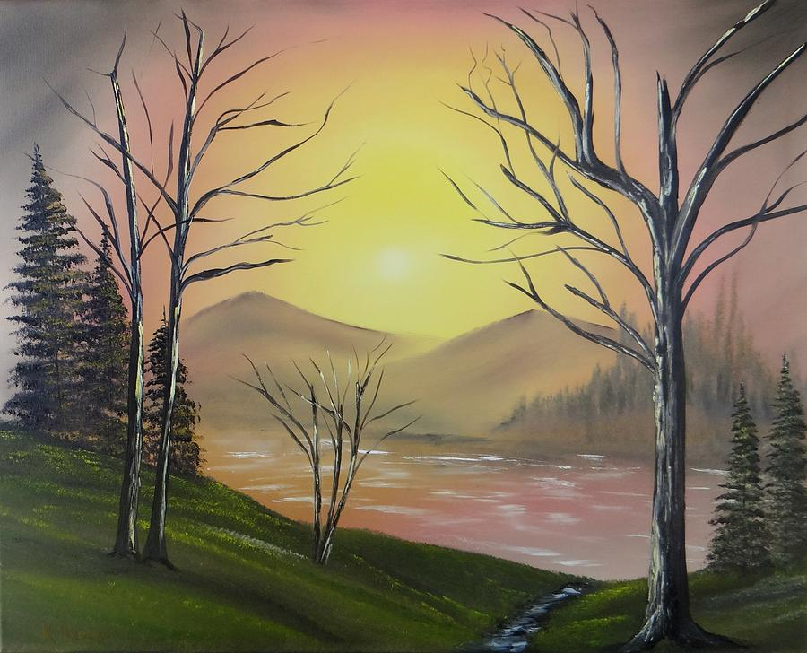 Arizona Landscape Paintings Painting - Southwest Sunrise by Kevin  Brown