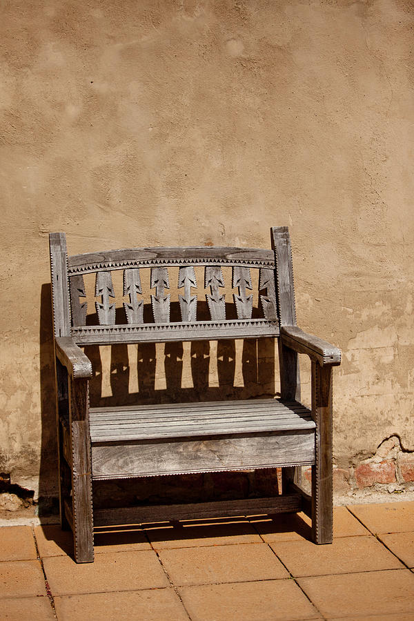 Southwestern Photograph - Southwestern Bench by Art Block Collections