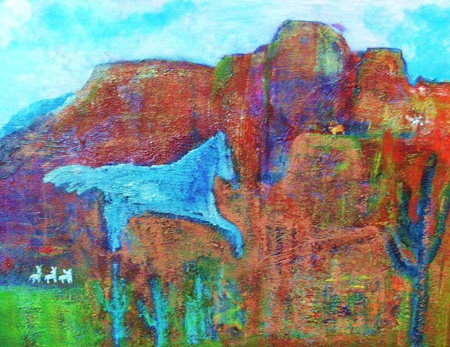 Southwestern Painting - Southwestern Dreamscape  by Anne-Elizabeth Whiteway
