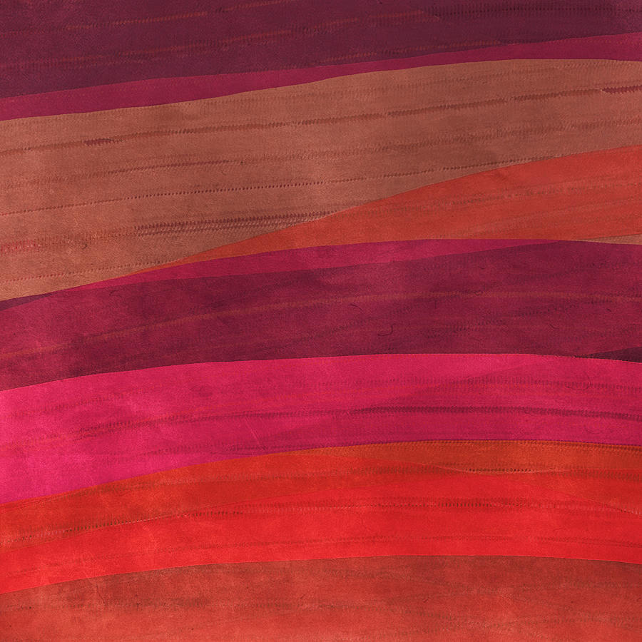 Abstract Digital Art - Southwestern Sunset Abstract by Bonnie Bruno