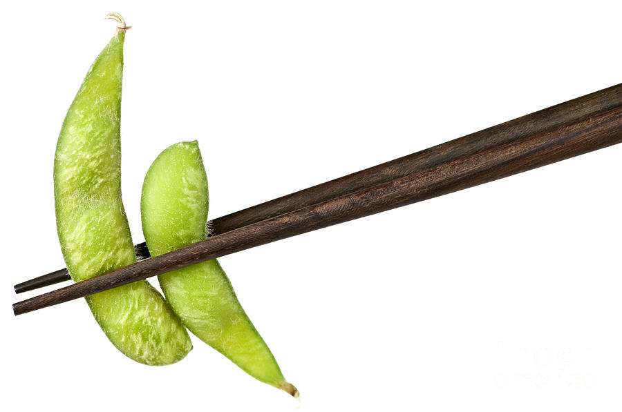 Soy Beans With Chopsticks Photograph