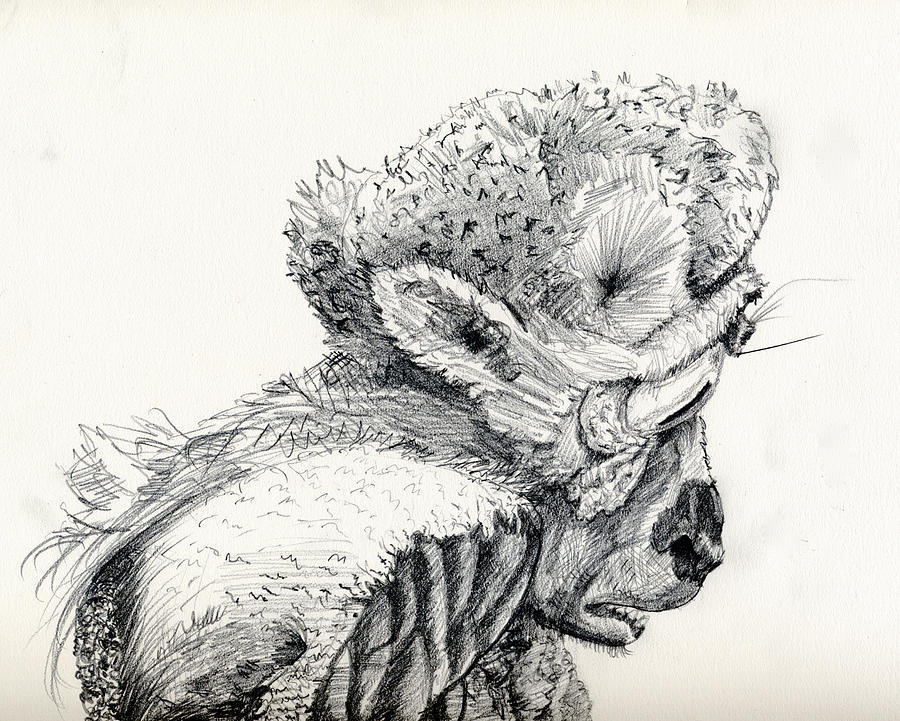 Space Drawing - Space Alien by Whistler Kenworthy
