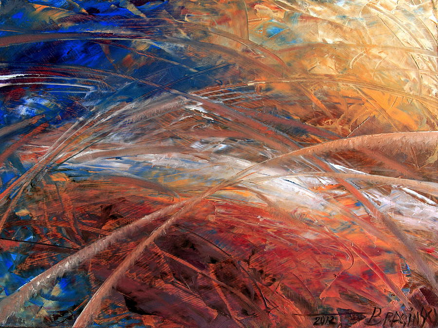 Space And Time Painting By Arthur Braginsky