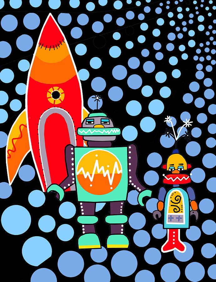 Space Landing Painting