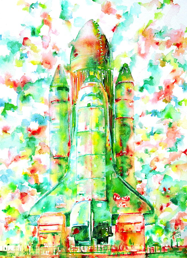 Space Shuttle - Launch Pod Painting  - Space Shuttle - Launch Pod Fine Art Print