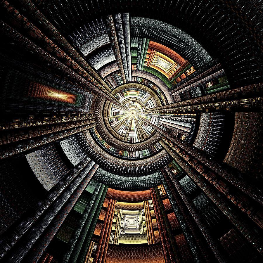 Malakhova Digital Art - Space Station by Anastasiya Malakhova