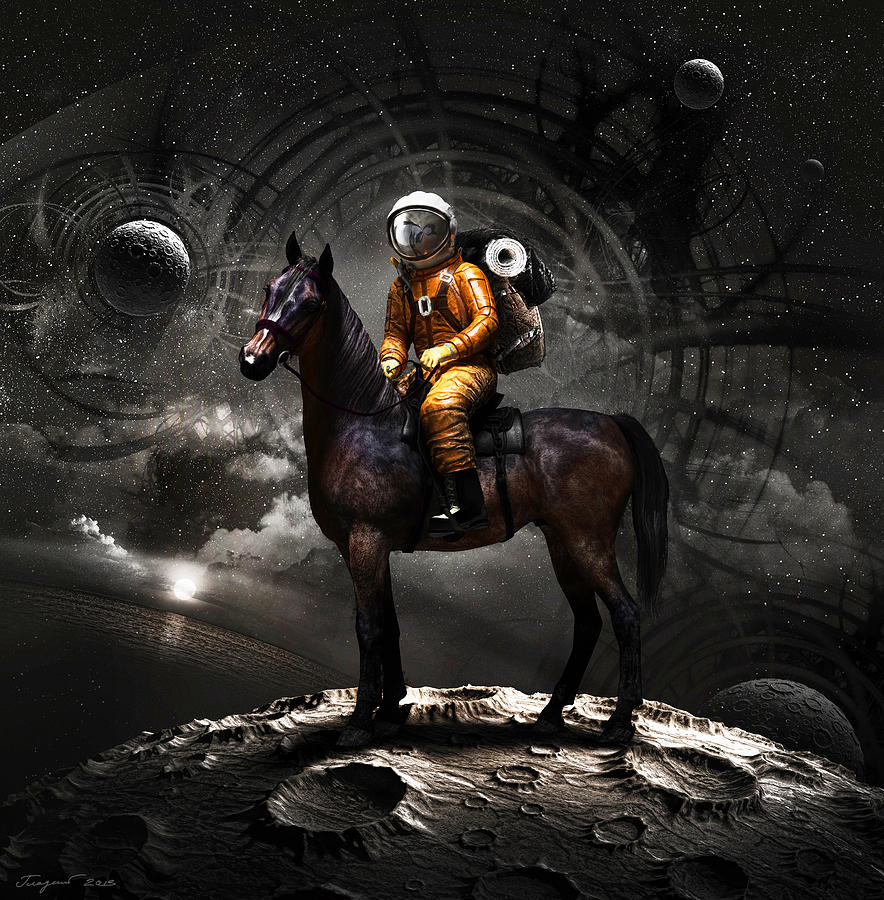 Space Tourist Digital Art