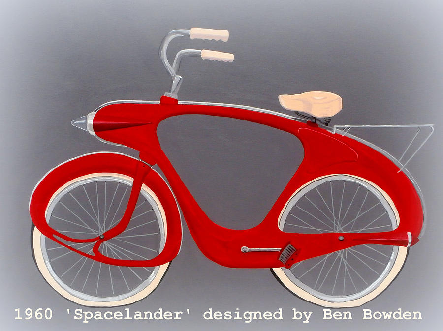 Spacelander Bicycle Painting  - Spacelander Bicycle Fine Art Print